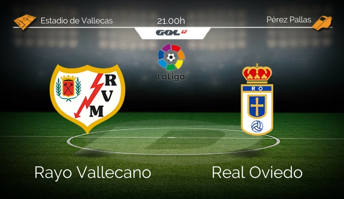 Rayo Vallecano - Real Oviedo. Viernes 21:00. Vallecas.