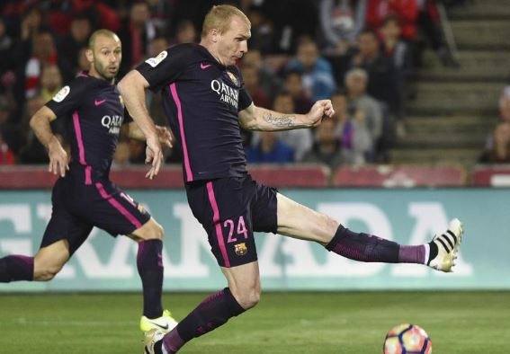 Jeremy Mathieu, defensa del Barcelona.