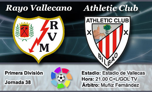 Resumen JORNADA 38: RAYO 2-2 ATHLETIC