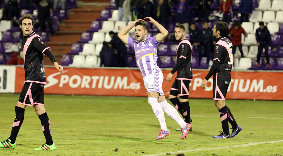 Jose celebrando el gol anotado, recientemente, al Rayo Vallecano (Foto: RV.es).