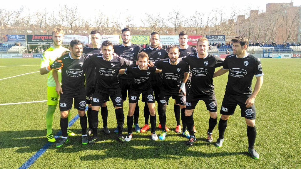 Once inicial del CD Ebro (Foto: Twitter AE Prat).