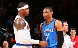 Carmelo Anthony y Russell Westbrook.