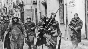 Soldados republicanos en la Guerra Civil.