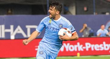 Villa celebra un gol con el New York City