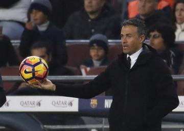 Luis Enrique, en el Camp Nou.