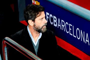 Quique, en el Camp Nou.