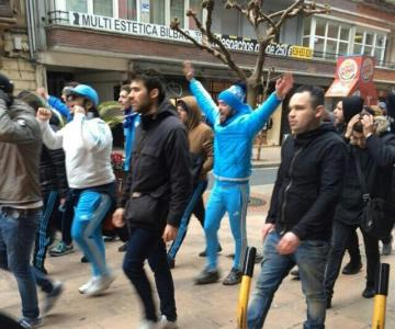 Los ultras del Marsella provocaron incidentes en Bilbao.