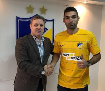 David Barral con la camiseta del APOEL (Foto: @barral23)