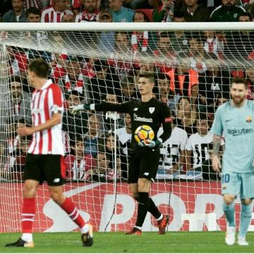 Kepa en un partido con el Athletic Club.