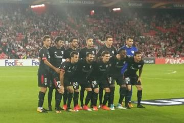 El once del Athletic Club ante el Östersunds en San Mamés.
