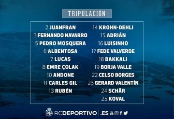 Los citados por Seedorf ante el Athletic.