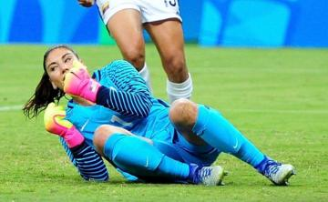 Hope Solo, tras su error en el 0-1.