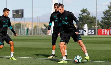 Bale, en un entrenamiento del Real Madrid. (Foto: Real Madrid).