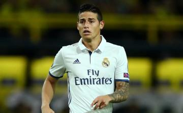 James Rodríguez, en un partido con el Real Madrid.