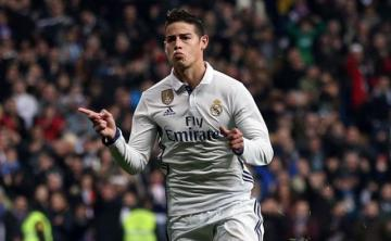 James, en un partido del Real Madrid.