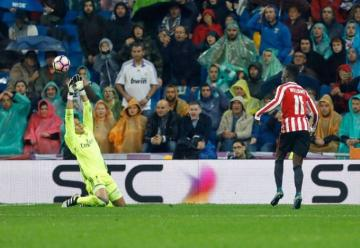 Keylor Navas, ante el Williams.
