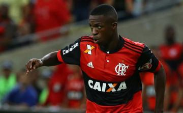 Vinicius Junior, con el Flamengo.