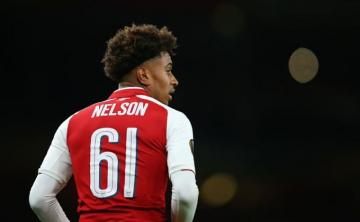 Reiss Nelson, con el Arsenal en Europa League.