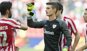 Kepa, en un partido con el Athletic.