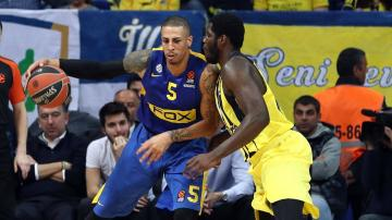Diamon Simpson, con el Maccabi.