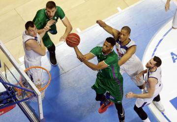 Brooks, en el Unicaja-Real Madrid de Liga.