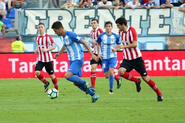 Adrián, ante el Athletic.