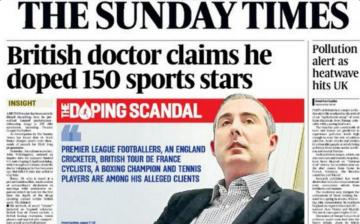 Mark Bornar, en la portada 'The Sunday Times'