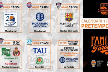 Calendario pretemporada Valencia Basket.