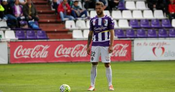 David Timor, con la camiseta del Real Valladolid.