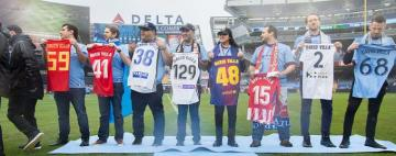 Así homenajeó el New York City a David Villa (Foto: NYC).