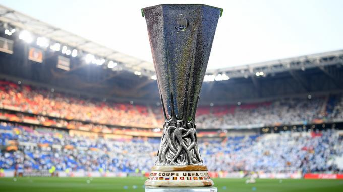 El trofeo de la Europa League.