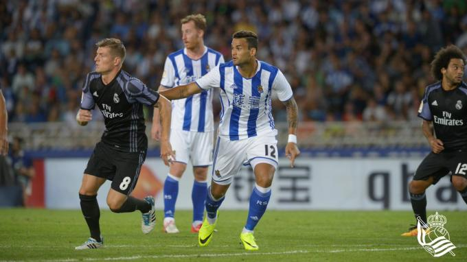 Willian José frente al Real Madrid. (Foto: Real Sociedad)