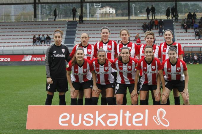 El once del Athletic Club Femenino ante el Madrid CFF (Foto: Athletic Club).