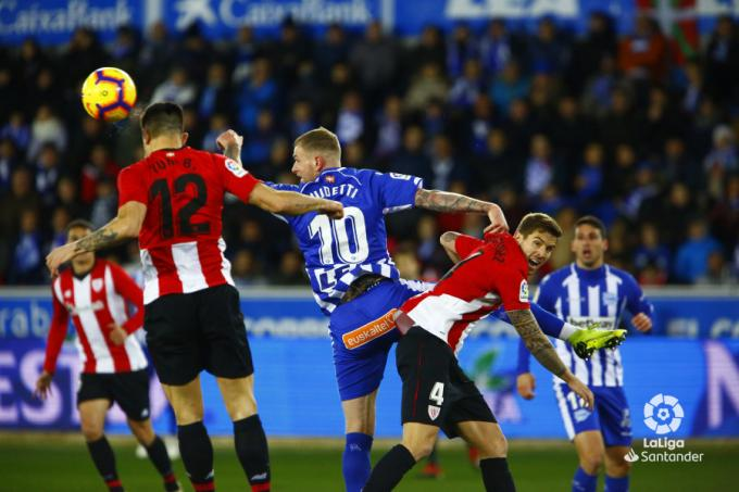 Guidetti ante el Athletic. (Foto: LaLiga).