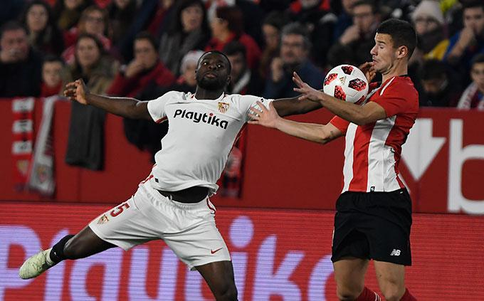 Amadou, ante el Athletic (Foto: Kiko Hurtado).