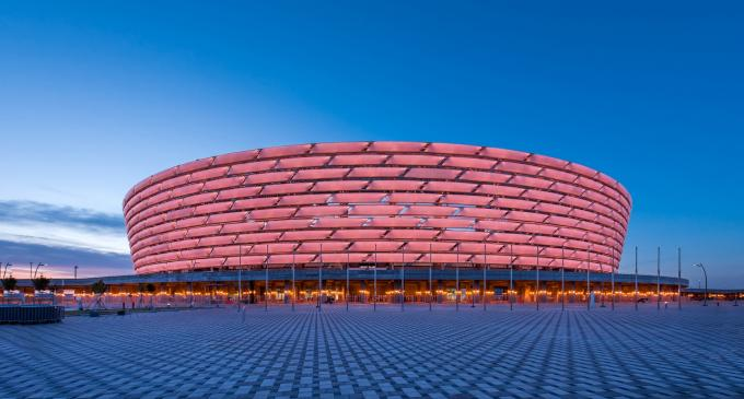 Estadio de Baku dónde se disputará la final de la Europa League 2019.