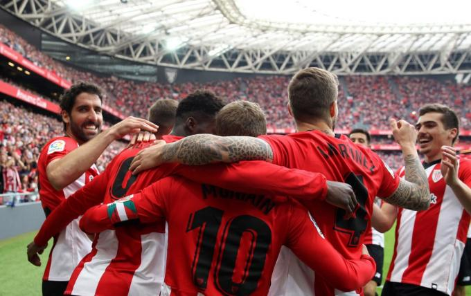 El Athletic está intratable en San Mamés. Foto: EFE).