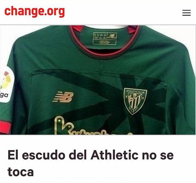 La camiseta verde del segundo equipaje del Athletic Club ha llegado a Change.org