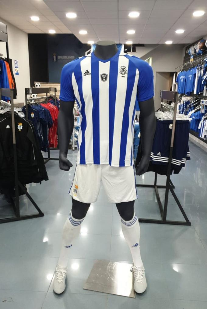 Camiseta del Recre para los playoff de ascenso. (@recreoficial)