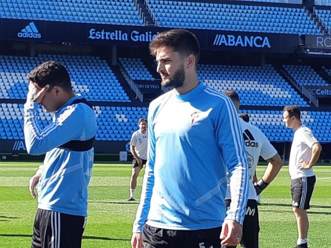 Okay, in the session prior to the league debut against Madrid (Photo: Alberto Bravo).