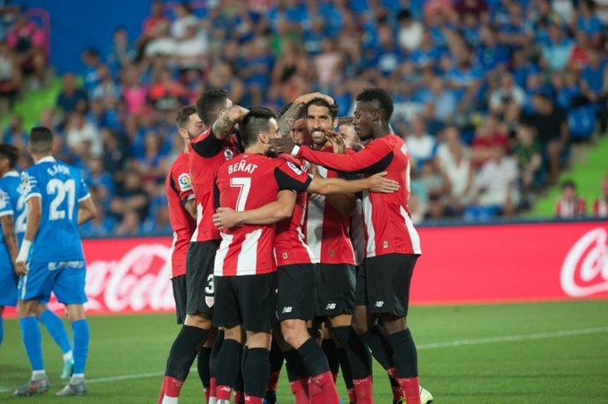 Los leones celebran un gol (Foto: Athletic Club).