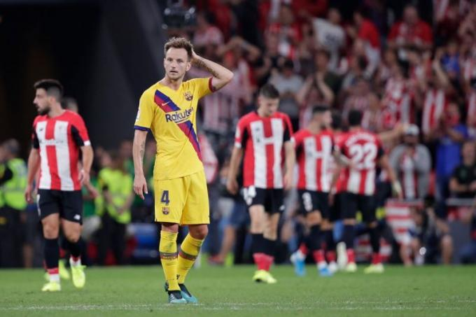 Rakitic, ante el Athletic.
