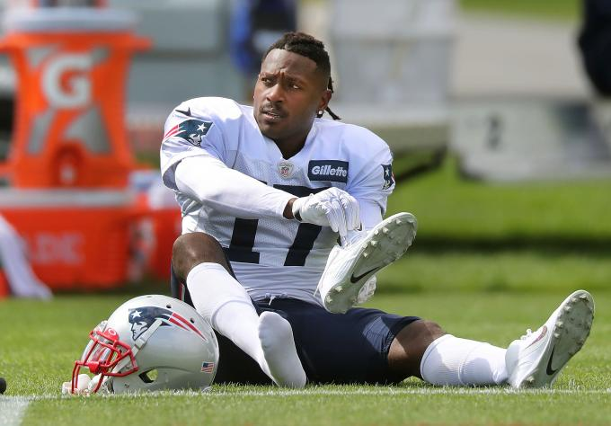 Antonio Brown, con los New England Patriots.