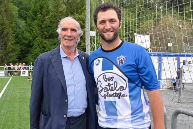 Iribar y Jon Rahm en Plentzia (Foto: Athletic Club).