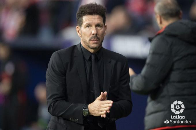 Simeone, ante el Athletic (Foto: LaLiga).