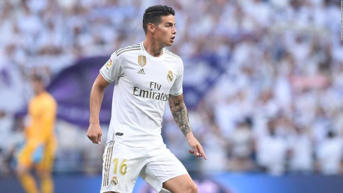 James Rodríguez, durante un partido del Real Madrid.