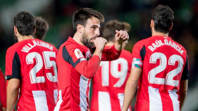 Beñat celebró con este gesto su gol ante el Intercity (Foto: Athletic Club).