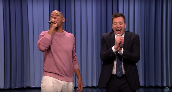 Will Smith y Jimmy Fallon en su late night (Foto: NBC).