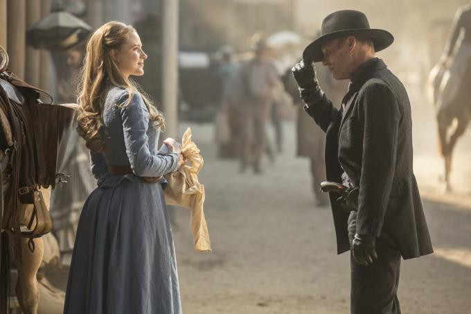 Evan Rachel Wood y Ed Harris en Westworld (Fuente: HBO).