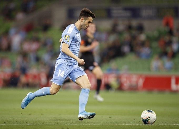 Markel Susaeta en su debut con el Melbourne City ante el Newcastle (Foto: Melbourne City).